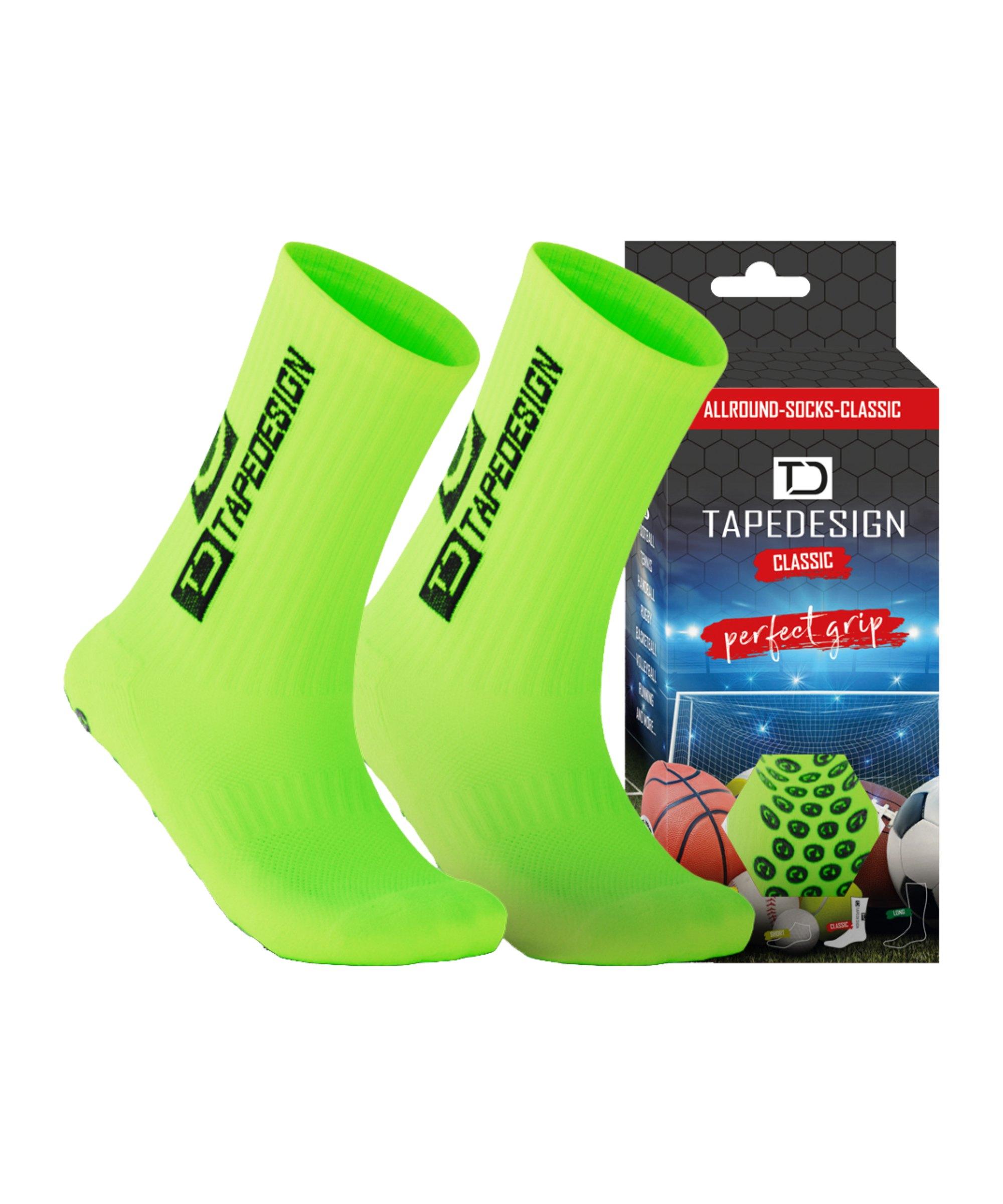 Tapedesign Socks Socken Neongrün F010