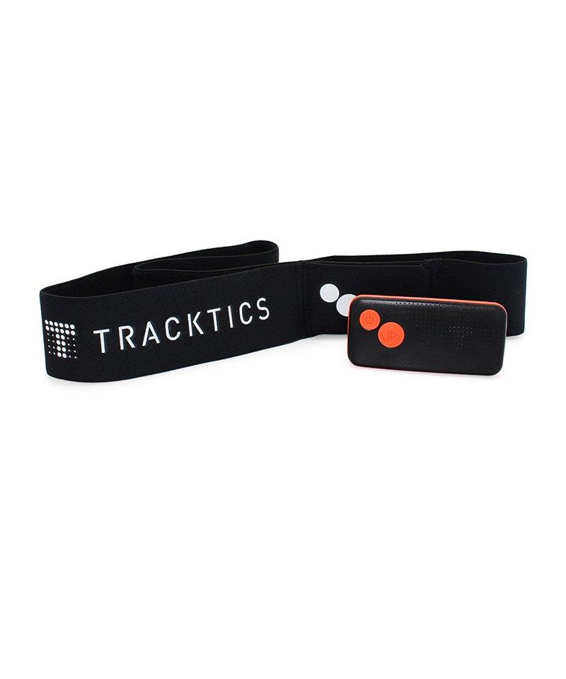 Tracktics Fussball Tracker mit Gürtel Schwarz - schwarz