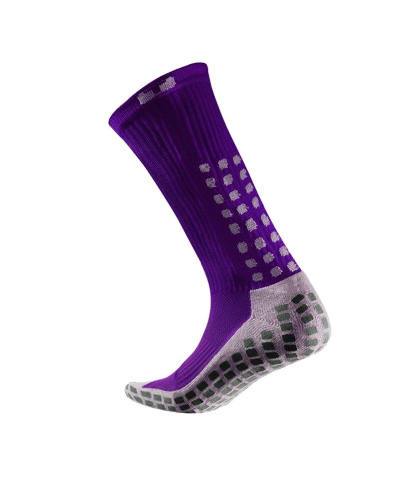 Farbbrillanz gut aussehen Schuhe verkaufen Dauerhafter Service TruSox Mid Calf Cushion Socken Lila Weiss