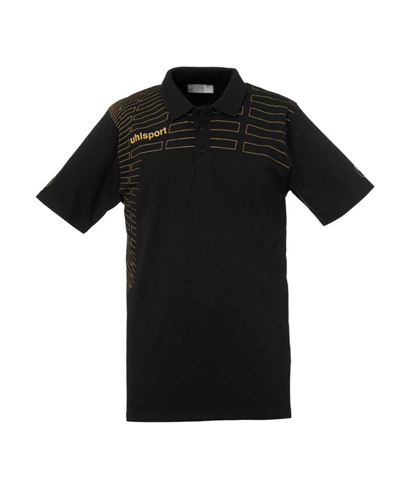 timeless design 8a857 ed4fe Uhlsport Match Poloshirt Schwarz Gold F01