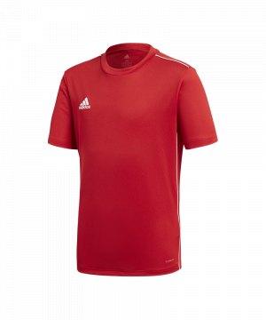 adidas Core 18 Polyesterjacke Rot Weiss Sport Fußball