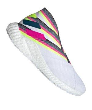 best service b2c17 9d6a9 adidas-nemeziz-19-tr-weiss-fussball-schuhe-freizeit-