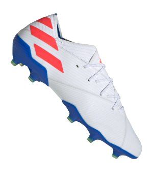 watch 74ed3 94795 adidas-nemeziz-messi-19-1-fg-weiss-blau-