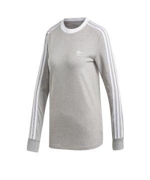 adidas Originals 3 Stripes Sweatshirt Damen Grau