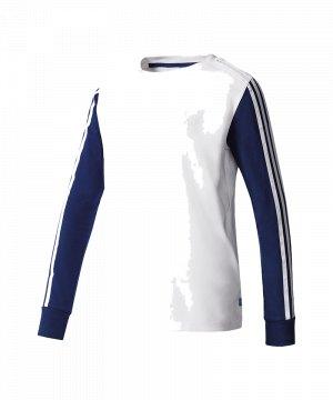 f81f35542578d1 adidas-originals-3-stripes-sweatshirt-weiss-blau-damen-