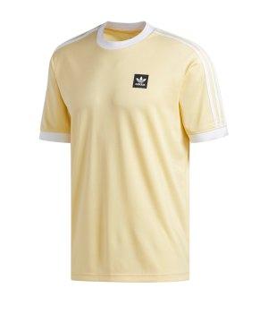 1e14da1e7204eb adidas-originals-club-t-shirt-gelb-weiss-lifestyle-