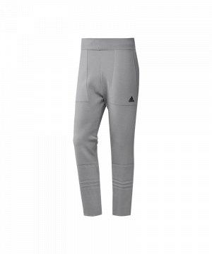 adidas trainingshose herren grau/weiß