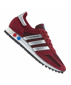 37239cbb6d7624 adidas-originals-la-trainer-sneaker-rot-silber-lifestyle-