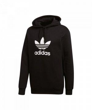 adidas-originals-trefoil-hoody-schwarz -kapuzenpullover-freizeitpullover-lifestyle-