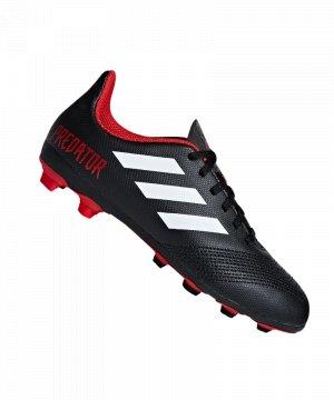 dcf755449d2a05 adidas-predator-18-4-fxg-kids-schwarz-weiss-