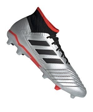 detailed look 3450f fcd45 adidas-predator-19-2-fg-silber-rot-fussball-