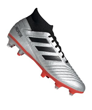 cheap for discount e8b09 ae0fb adidas-predator-19-3-sg-silber-rot-fussball-