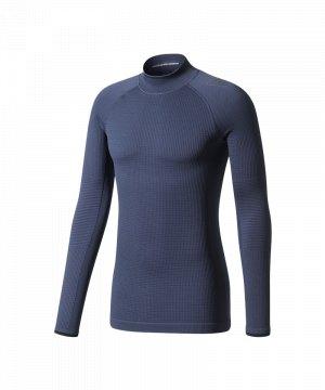 adidas-tech-fit-climaheat-ls-mock-dunkelblau-bq4985-underwear-langarm-unterziehhemd-longsleeve.jpg