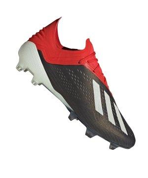 timeless design d5229 54d20 adidas-x-18-1-fg-schwarz-rot-fussballschuh-
