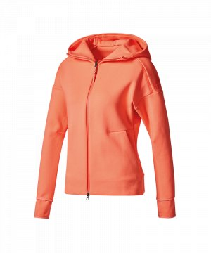 Adidas ZNE hood2 pulse Damen Zip Hoodie grau two