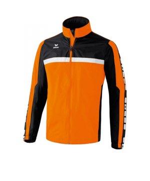 erima-5-cubes-regenjacke-kids-kinder-children-jacket-wasserabweisend-trainingskleidung-teamwear-orange-schwarz-105513.jpg