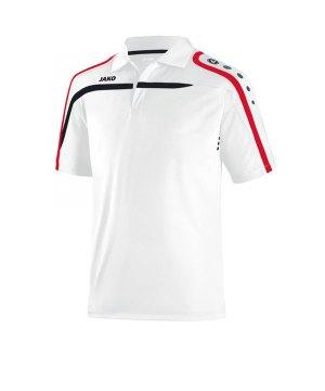 Jako Polo Team mit Brusttasche Herren rot Poloshirt Shirt T-Shirt kurzarm Sport