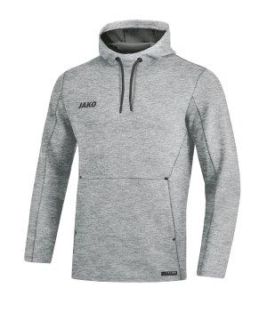 JAKO Premium Basic Kapuzensweatshirt Grau F21