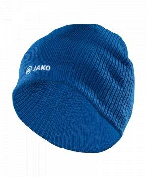 asics winter beanie blau