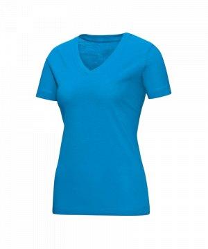 jako-v-neck-t-shirt-damen-blau-f89-v-ausschnitt-kurzarmtop-sportbekleidung-textilien-frauen-women-6113.jpg
