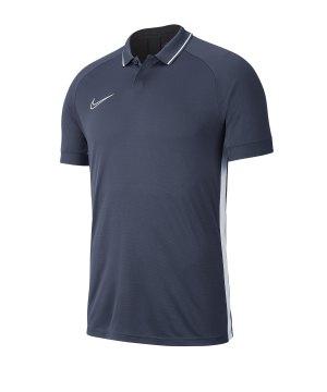 on sale 129b8 02ff0 nike-academy-19-poloshirt-grau-weiss-f060-fussball-