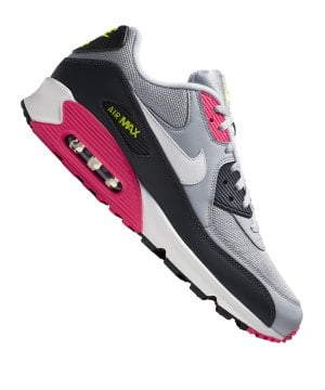 best sneakers 2724f 0022b nike-air-max-90-essential-sneaker-grau-pink-