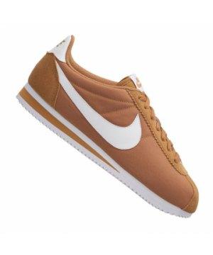 new style 03557 8ea4a nike-classic-cortez-nylon-sneaker-braun-weiss-f203-