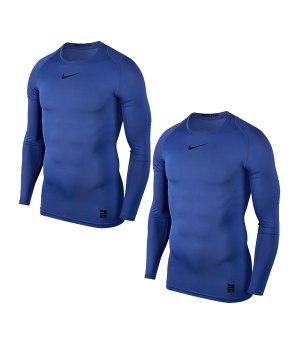 nike-pro-compression-ls-shirt-2er-set-blau-f480-training-kompression-unterwaesche-838077-2erset.jpg