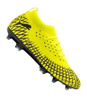Fussball Schuhe Stollen Puma Gr.32(Gr.31) gelb orange