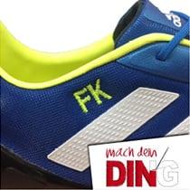 Schuhbestickung - Beispiel 1